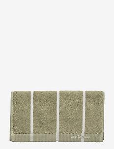 TIILISKIVI GUEST TOWEL - GREYGREEN, WHITE