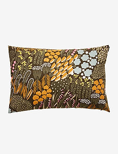 P.LETTO CUSHION COVER - pudebetræk - dark green, brown, peach