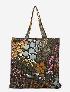 PIENI LETTO BAG - casual shoppers - dark green, brown, peach