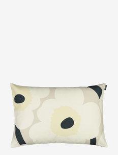 UNIKKO CUSHION COVER - cushion covers - beige, natural white,dark gree