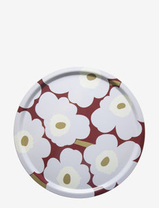 PIENI UNIKKO TRAY - servering - dark red, light gray,off-white