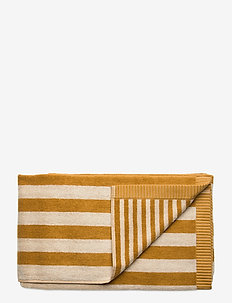 KAKSI RAITAA BATH TOWEL - towels - ochre, off-white
