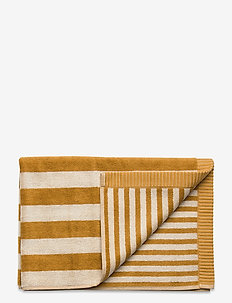 KAKSI RAITAA HAND TOWEL - towels - ochre, off-white