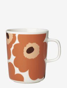 UNIKKO MUG - kaffekopper - white, apricot, dark brown