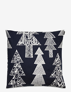 KUUSIKOSSA CUSHION COVER - pudebetræk - dark blue, white