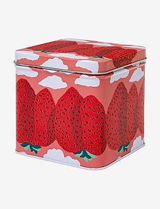 MANSIKKAVUORET TIN BOX - kasser & Æsker - pink, red
