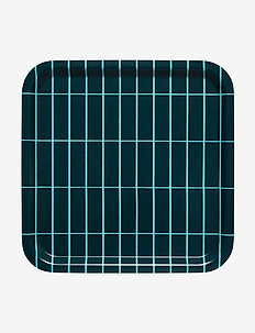 TIILISKIVI TRAY - tabletts - dark green, turquoise