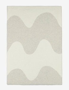 LOKKI KNITTED BLANKET - plaids - white, beige