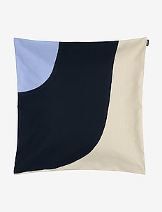 SEIREENI CUSHION COVER - pudebetræk - blue, natural white, dark blue