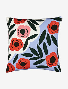 RUUKKU CUSHION COVER - housses de coussins - light blue, red, dark green