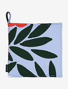 RUUKKU POT HOLDER - mitaines de four, gants et maniques - light blue, red, dark green