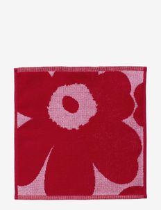 UNIKKO MINI TOWEL 30X30 CM - håndklæder - pink/red