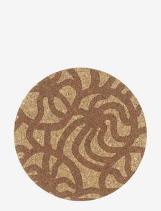 JOONAS CORK LID 1 - pot coasters - brown