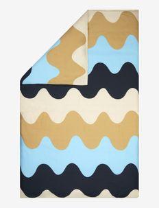 LOKKI DUVET COVER - pussilakanat - blue, beige, white