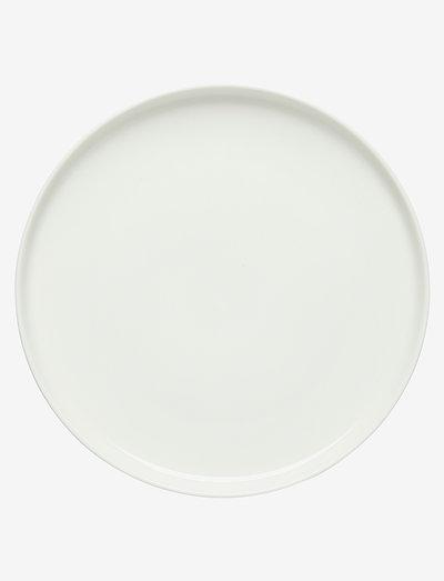 OIVA PLATE - middagstallerkner - white