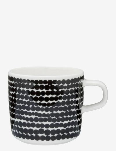 SIIRTOLAPUUTARHA COFFEE CUP - kaffekopper - white,black/räsymatto