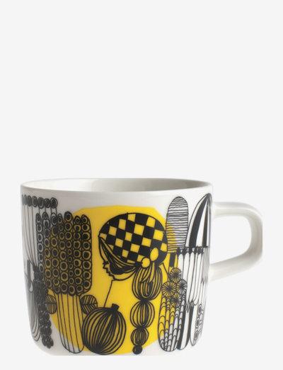 SIIRTOLAPUUTARHA COFFEE CUP 2DL - kaffekopper - white,black,yellow
