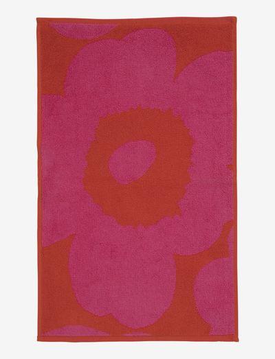 UNIKKO GUEST TOWEL - håndklæder - red/pink