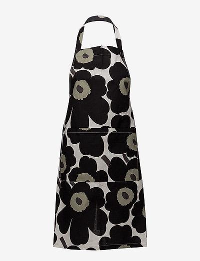 PIENI UNIKKO APRON - forklæder - white, black, olive