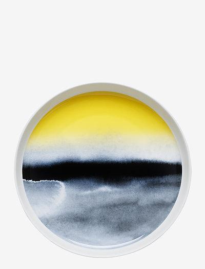 SÄÄPÄIVÄKIRJA PLATTER - middagstallerkner - white,black,yellow