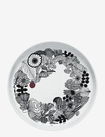 SIIRTOLAPUUTARHA PLATTER - serverings & anretningsfade - white, black, pink