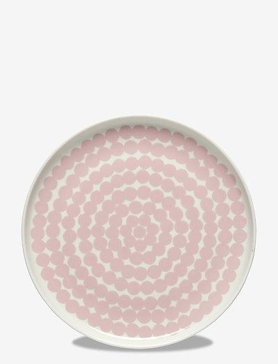 SIIRTOLAPUUTARHA PLATE - middagstallerkner - white, pink