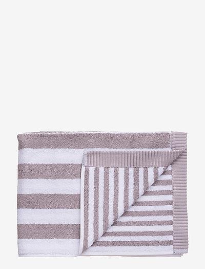 KAKSI RAITAA GUEST TOWEL - håndklæder - grey, white