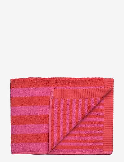 KAKSI RAITAA HAND TOWEL - håndklæder - red, red
