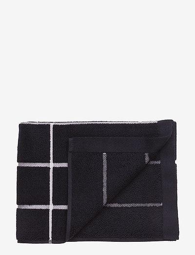 TIILISKIVI GUEST TOWEL - håndklæder - black, white