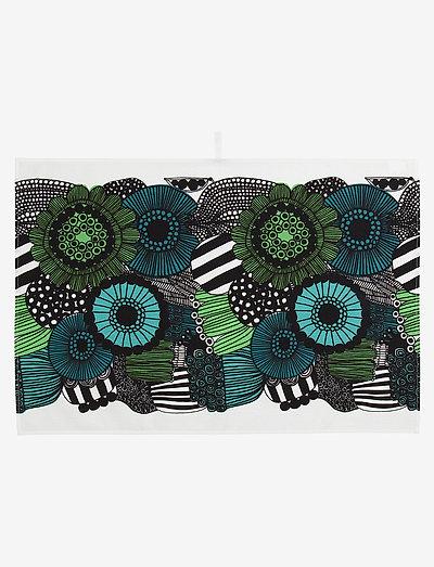 SIIRTOLAPUUTARHA TEA TOWEL - viskestykker - white, green, black