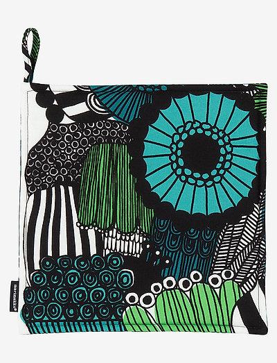 PIENI SIIRTOLAPUUTARHA POT HOLDER - grydelapper & ovnhandsker - white, green, black