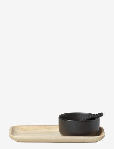 OIVA / SPICE SET - krydderikværne - matt black, brown