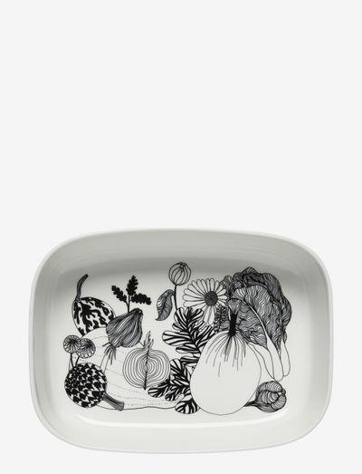 SIIRTOLAPUUTARHA SERVING DISH - serverings & anretningsfade - white, black