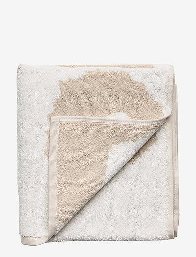 UNIKKO HAND TOWEL - håndklæder - beige, white