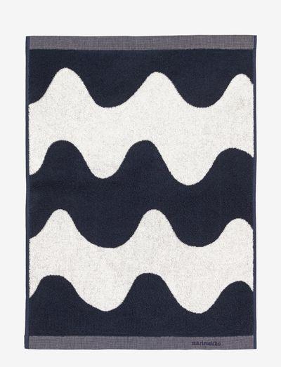 LOKKI HAND TOWEL - håndklæder - off-white, dark blue