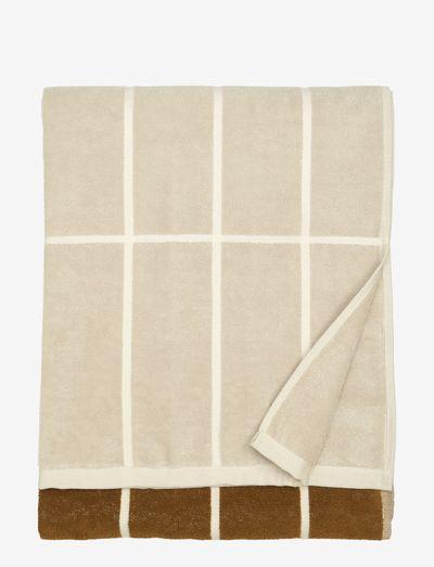 TIILISKIVI BATH TOWEL 70X150CM - håndklæder - dark grey/ cinnamon/ powder