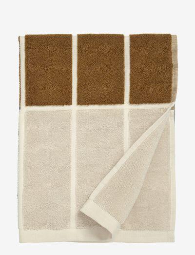 TIILISKIVI HAND TOWEL 50X70CM - håndklæder - dark grey/ cinnamon/ powder