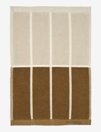 TIILISKIVI GUEST TOWEL 30X50CM - håndklæder - dark grey/ cinnamon/ powder