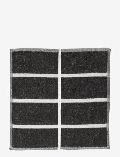 TIILISKIVI MINI TOWEL 30X30CM - håndklæder - dark grey/ cinnamon/ powder