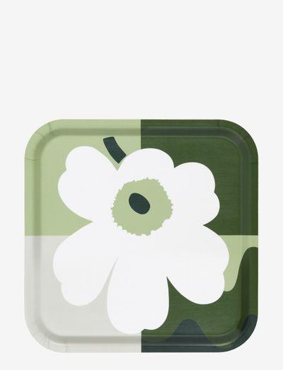 MM CO-CREATED TRAY - serveringsbakker - white, green, black