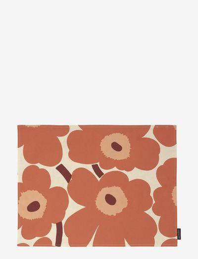 PIENI UNIKKO ACRYL COATED PLACEMAT - dækkeservietter & glasbrikker - linen, orange, burgundi