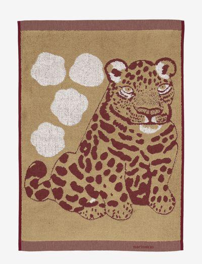 KAKSOSET HAND TOWEL - håndklæder - beige, burgundy
