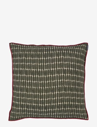 ALKU CUSHION COVER - puder - linen, dark green