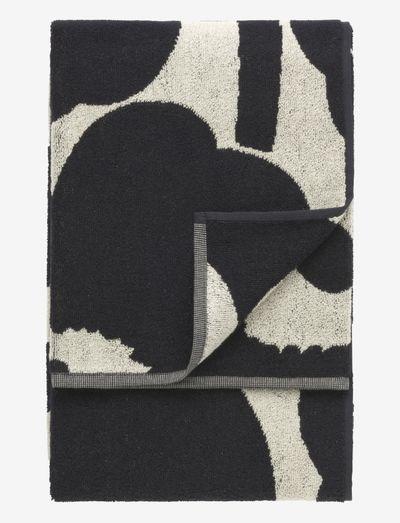 UNIKKO BATH TOWEL 70X150 CM - håndklæder - black/sand