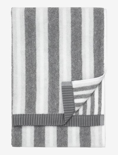 KAKSI RAITAA HAND TOWEL 50X70 - håndklæder - white/grey