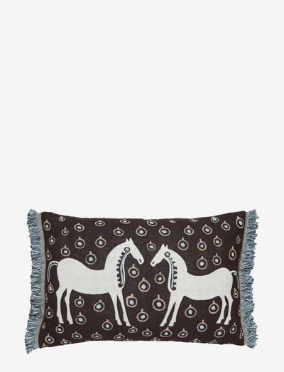 MUSTA TAMMA CUSHION COVER - puder - dark brown, light blue, off-wh