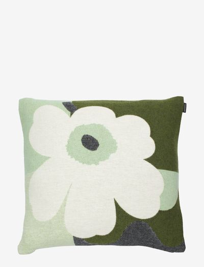 MM CO-CREATED CUSHION COVER - puder - green, white