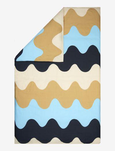 LOKKI DUVET COVER - dynebetræk - blue, beige, white