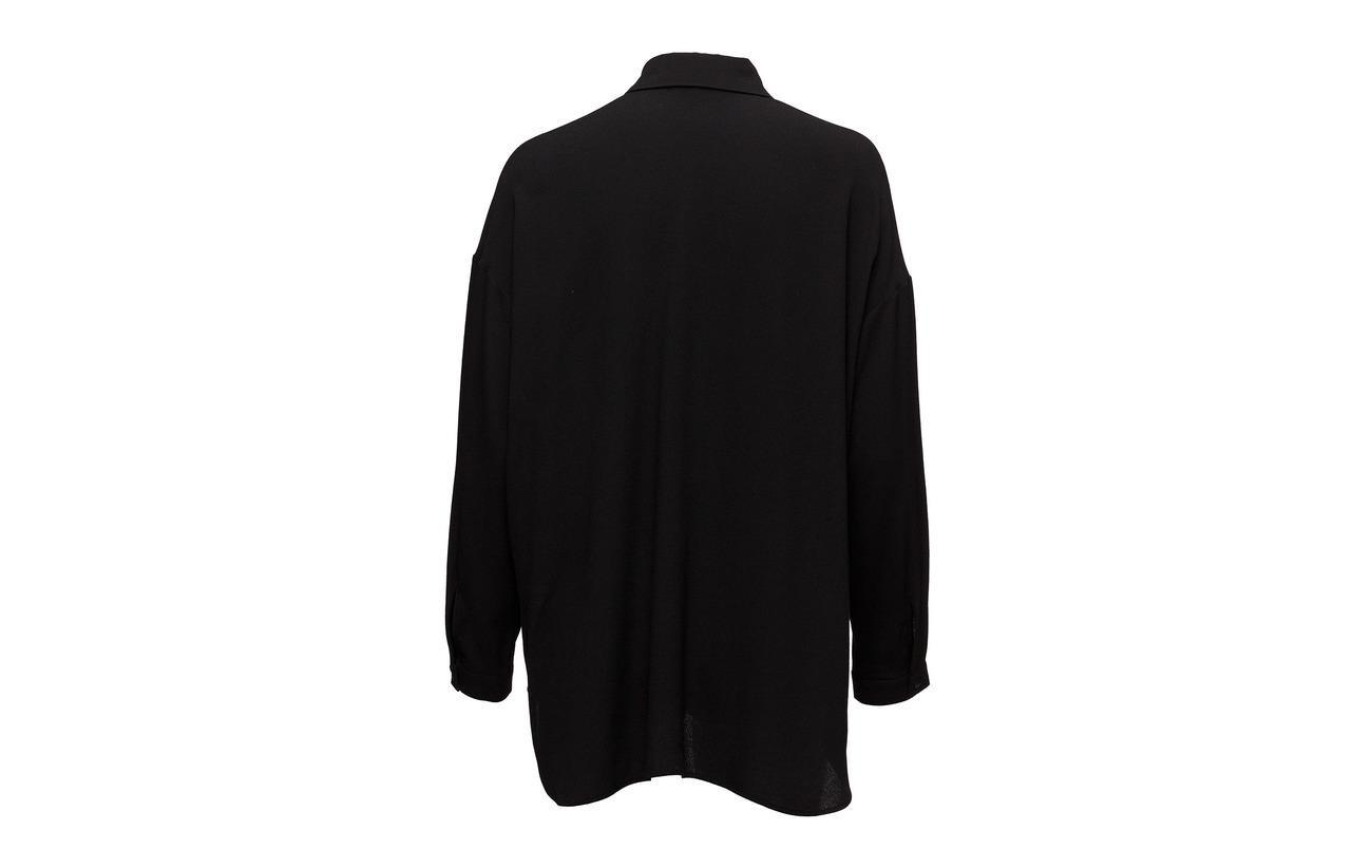 Black Viscose Marimekko 100 Atsalea Shirt arAqExIA