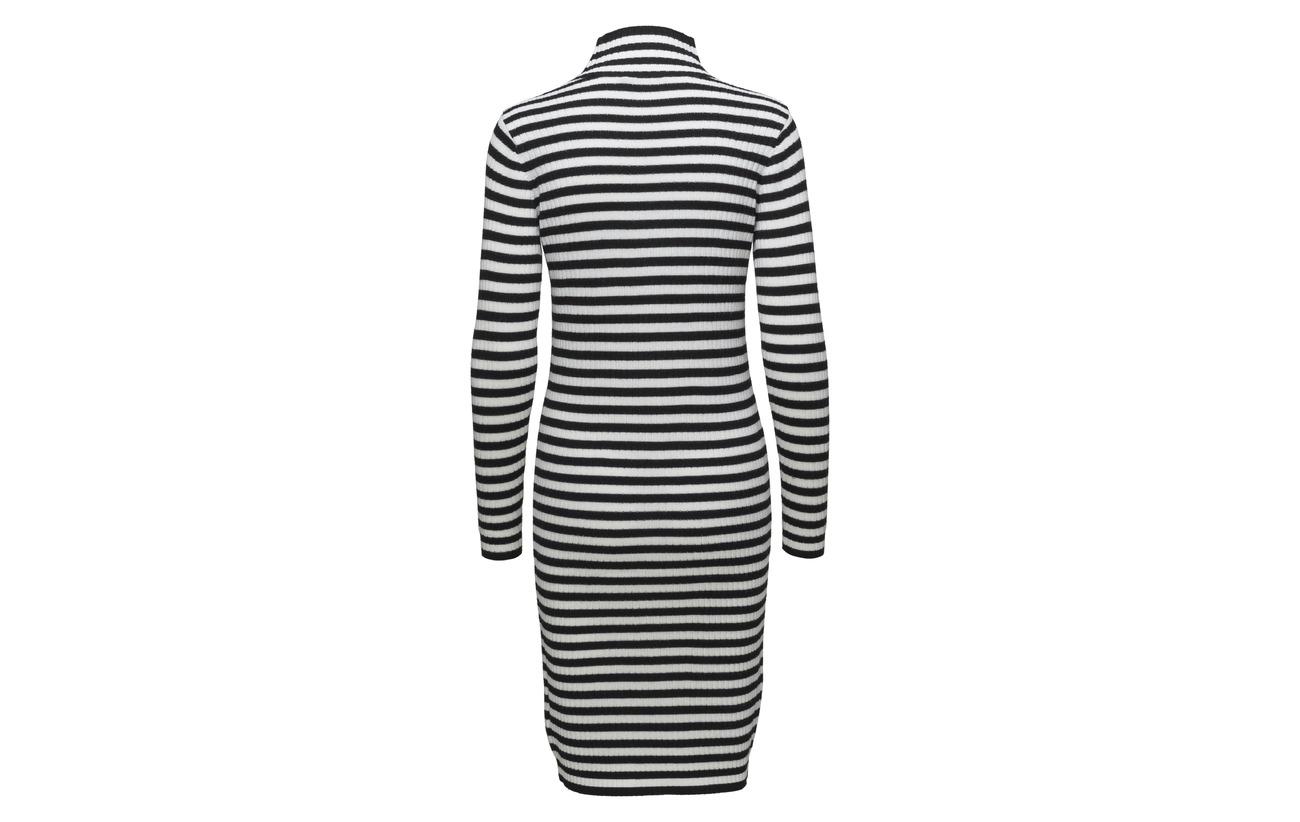 100 Dress Knitted Laine Black Off White Angervo Tasaraita Marimekko 6w4xq0zt